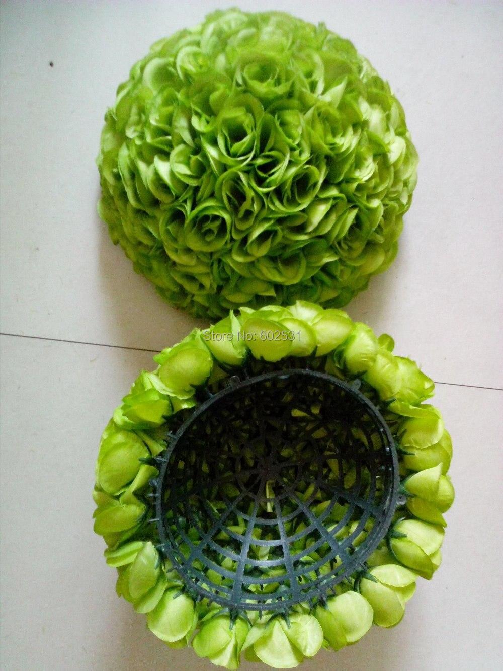 Spr 30 cm 플라스틱 센터 웨딩 키스 꽃 공 23 색 옵션 웨딩 장식 꽃 실크 인공 꽃-에서인공 & 건조 꽃부터 홈 & 가든 의  그룹 1