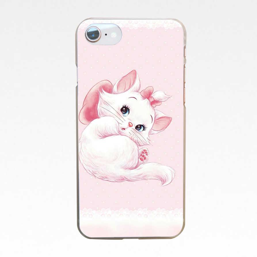 """Kreskówki """"arystokratów"""" Marie koty kot dysk przezroczysty pokrywy skrzynka dla Iphone 4 4S 5 5S Se 6 6 s 8 Plus 7 7 Plus X"""