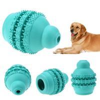 كلب الكرة لعبة الكرة المطاطية لعبة funning pet مقاومة عضة الكلب مضغ اللعب الأسنان تنظيف كرات اللعب اللعب الغذاء موزع