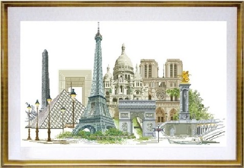 Gold Collection Counted Cross Stitch Kit Paris France Famous City Series tg 472