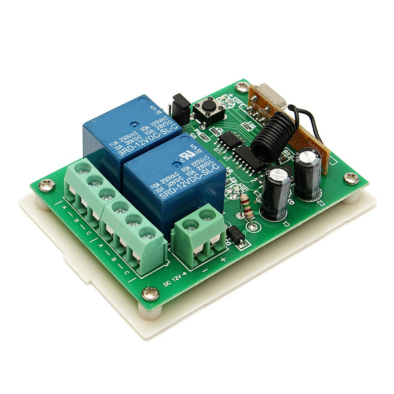 12V 10A 2CH 100M Wireless Remote Control Relay Switch 315MHz Transceiver  With 2 Receiver Compatible With 2260/2262/1527 Best
