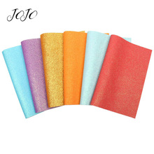 JOJO BOWS 22*30cm Thin Glitter Fabric For Craft Solid Candy Color Sheet For DIY Hair Bow Apparel Bag Sewing Material Party Decor цена