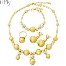 93a3f650e88d Liffly Classique Forme Ronde Conception Charme Marocaine Femmes bijoux fins  Ensembles rouleaux de ruban Bracelet boucles d oreil.