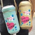 Рекомендуем персонализированные марка дизайн мода прекрасный письмо мешок бутылки напитка соды форма бутылки сумка девушки сумочка подарок