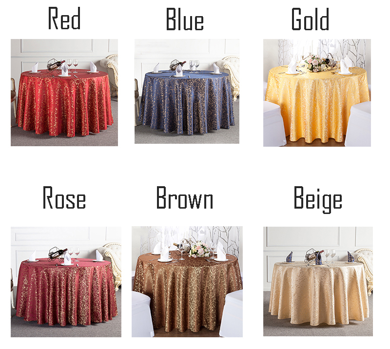 Upscale Gold Floral Pattern Red Wedding Table Cloth Decorations Party  Birthday Tablecloths Table Fabric Favors Souvenir In Tablecloths From Home  U0026 Garden On ...
