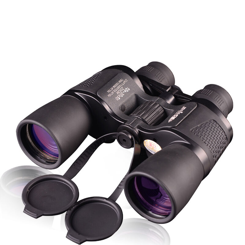 Bijia 10-30x50 Binoculars HD High Power Waterproof Zoom Binoculo Non-infrared Night Vision Telescope for Hunting Tourism