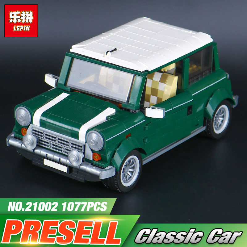Lepin Genuine 21002 technic series The Green Classic Car Model Building Educational Blocks Bricks Boy Toys Compatible With 10242 lepin 21003 series city car classical travel car model building blocks bricks compatible technic car educational toy 10252