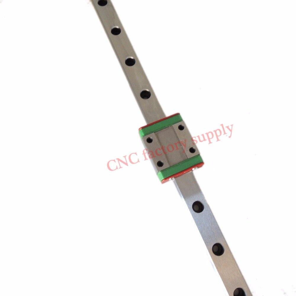 3D print parts cnc Kossel Mini MGN7 MGN12 MGN15 MGN9 miniature linear rail slide 1pc MGN9 linear rail guide +1pc MGN9C carriage