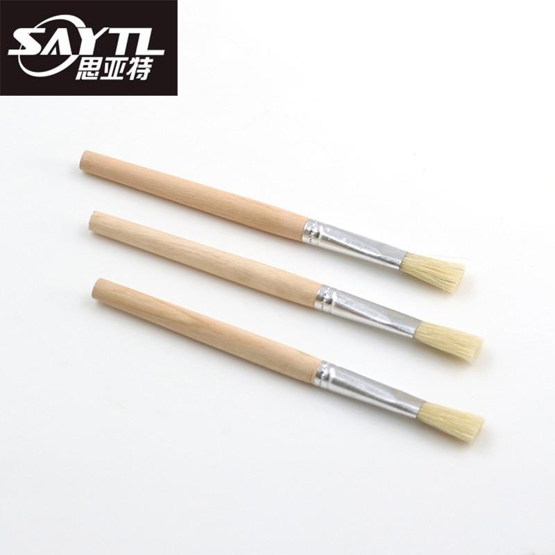 SAYTL Soft Hair Hard Hair Small Brush Laptop Keyboard Brush Clean Screen Crevice Dust Cleaning BGA Solder Flux Paste Brush