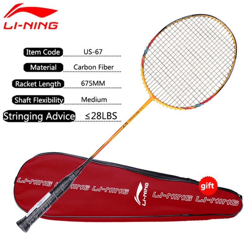 Li Ning Badminton Rackets Single Racket Professional Carbon Fiber LiNing Rackets AYPM228