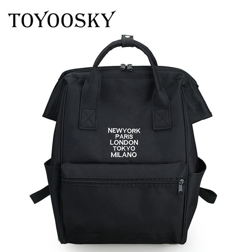 TOYOOSKY Women Backpacks For Teenage Girls Embroidery Canvas Backpack Female School Backpack Girl Mochila Feminina Hand Bag