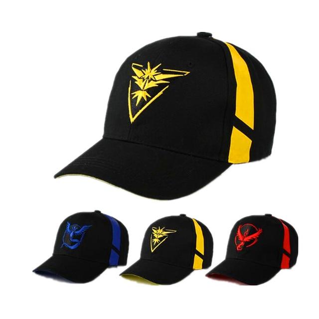 e1e6f475bd3 Cosplay Mobile game Pokemon Go Team Valor Team Mystic Team Instinct  snapback baseball Cap hat