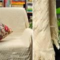 Milchig Reiner Baumwolle Teppich Dünne Decke Ethnische Kunst Sofa Handtuch Decke Bettdecke Wohnzimmer Schlafzimmer Filze Tapisserie 130X180 CM-in Wurf aus Heim und Garten bei