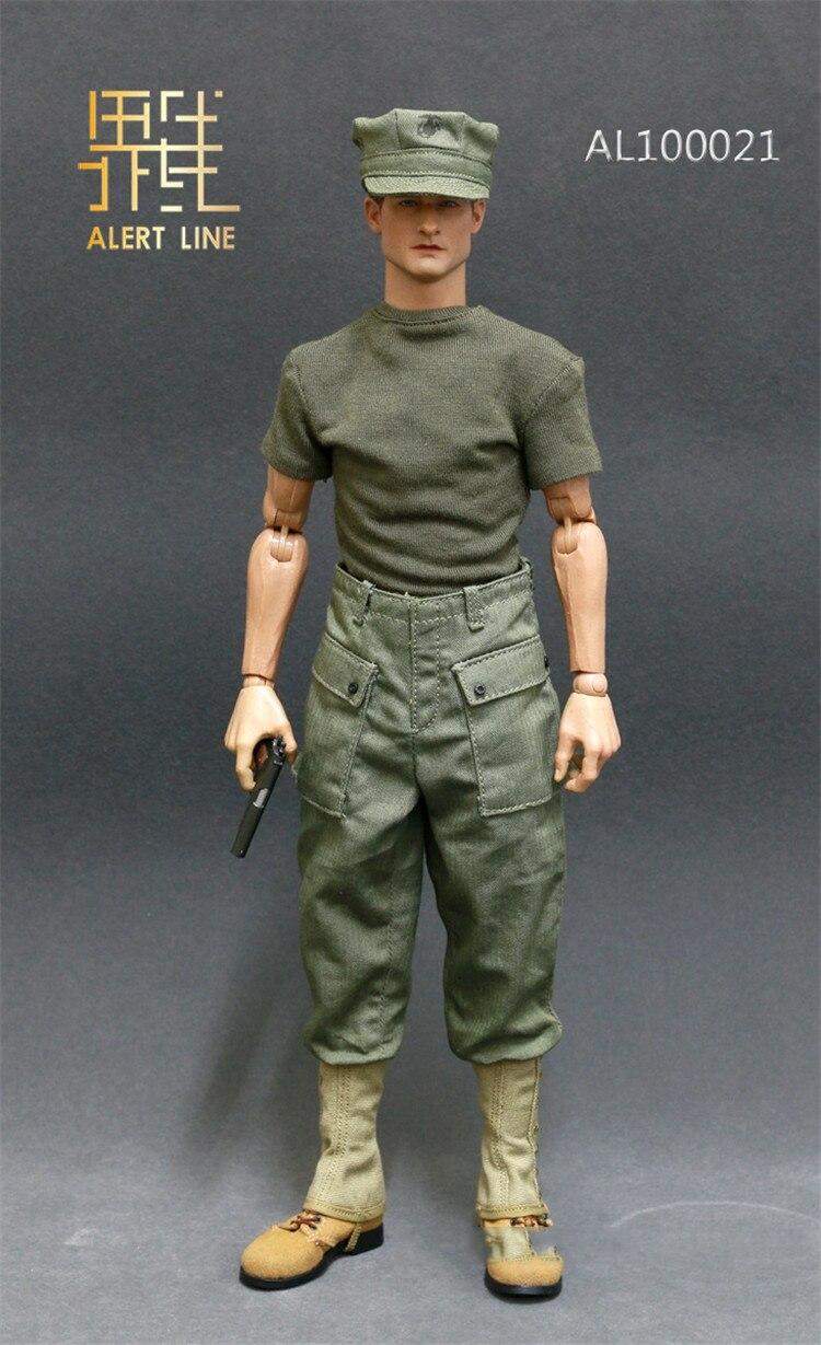 USMC BAR Gunner AL100021 Backpack 1//6 Scale Alert Line Figures