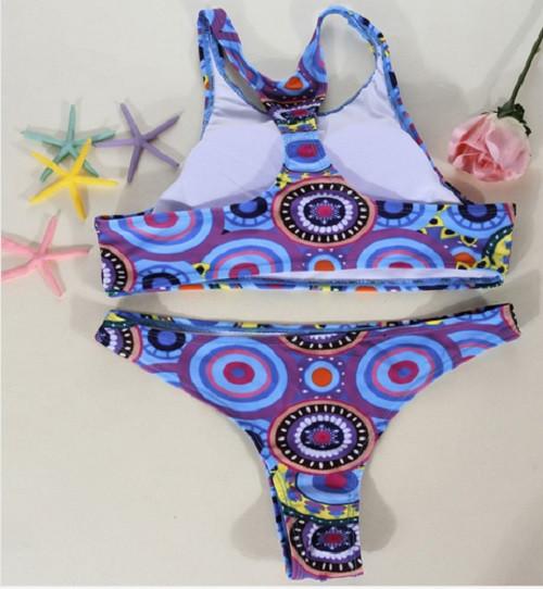 2017 New Low Waist Triangle Bikinis High Neck Brazilian Swimwear Swimsuit Bathing Suit Bikini Set Beachwear Brazilian Biquini 5