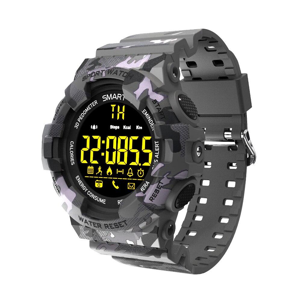 Bluetooth Sportwatch Stop Watch Alarm Clock Men Women Fitness Tracker 5 ATM Waterproof Fashion Outdoor Camouflage Smart Watch