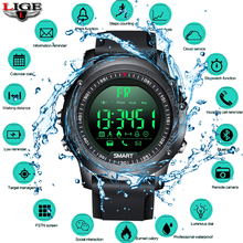 LIGE Smart Bracelet Men Bluetooth Pedometer Stopwatch Waterproof Digital LED Electronics Sport Watches Smartwatch relogios