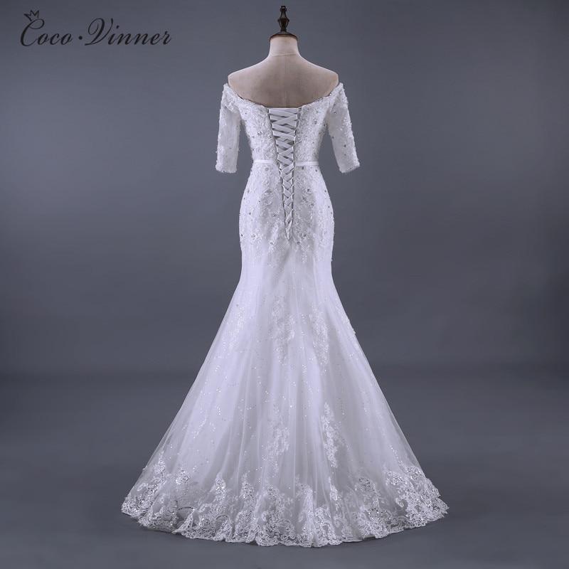 C. V foto real rebordear Encaje sirena Vestidos de novia 2018 nueva ...