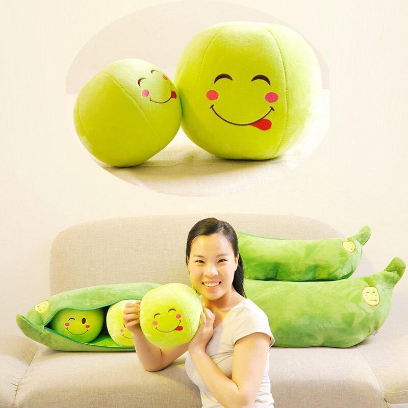 დიდი ბარდა Plush ბალიში Super Cute Peas - პლუშები სათამაშოები - ფოტო 3