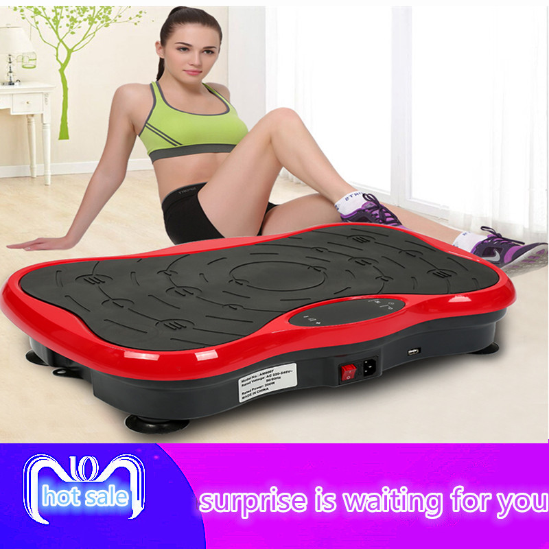 Upgraded version of ultra thin massage vibration board weight loss machine fat burning home gym exercise