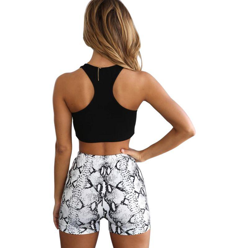 2019 New Sexy Snake Print Shorts Summer Fashion Casual Short Pants Women Club High Waist Bodycon Shorts Female Clothes