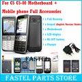 Для Nokia C5 C5-00 5 МП Мобильный Телефон материнская плата + LCD + мобильный телефон Случая крышки Снабжения Жилищем + Английский/Русский Клавиатура + Батареи