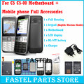 For Nokia C5 C5-00 5 MP Mobile Phone motherboard + LCD + Cell phone Housing Cover Case + English / Russian Keypad + Battery