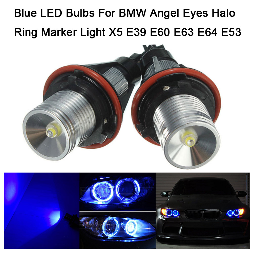 Professional Red LED Bulbs For BMW Angel Eyes Halo Ring Marker Light X5 E39 E60 E63 E64 E53 new e39 rgbw ir remote control led marker angel eyes for bmw e87 e60 e61 e63 e64 e65 e66 e53 e83 x5 rgb color changing lighting