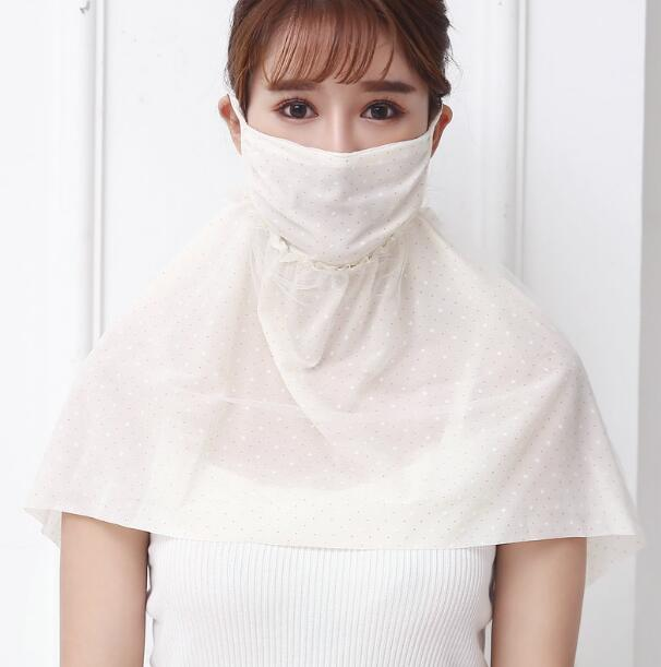 Women's Summer Sunscreen Chiffon Mask Lady's PM 2.5 Breathable Face Neck Uv Protection Mouth-muffle R900