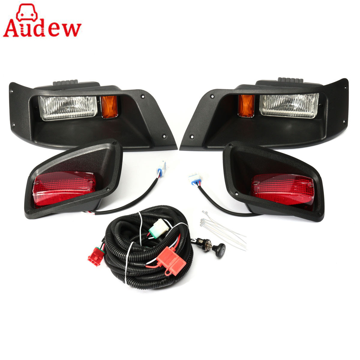 For Golf Halogen Headlight with LED Tail Light Lamp Kit For EZGO/TXT/Golf Cart 1996-Up цены