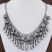 1 шт. мода классический черный Европа металл моды дикие цветы капли воды темперамент ожерелье оптовая бесплатная доставка