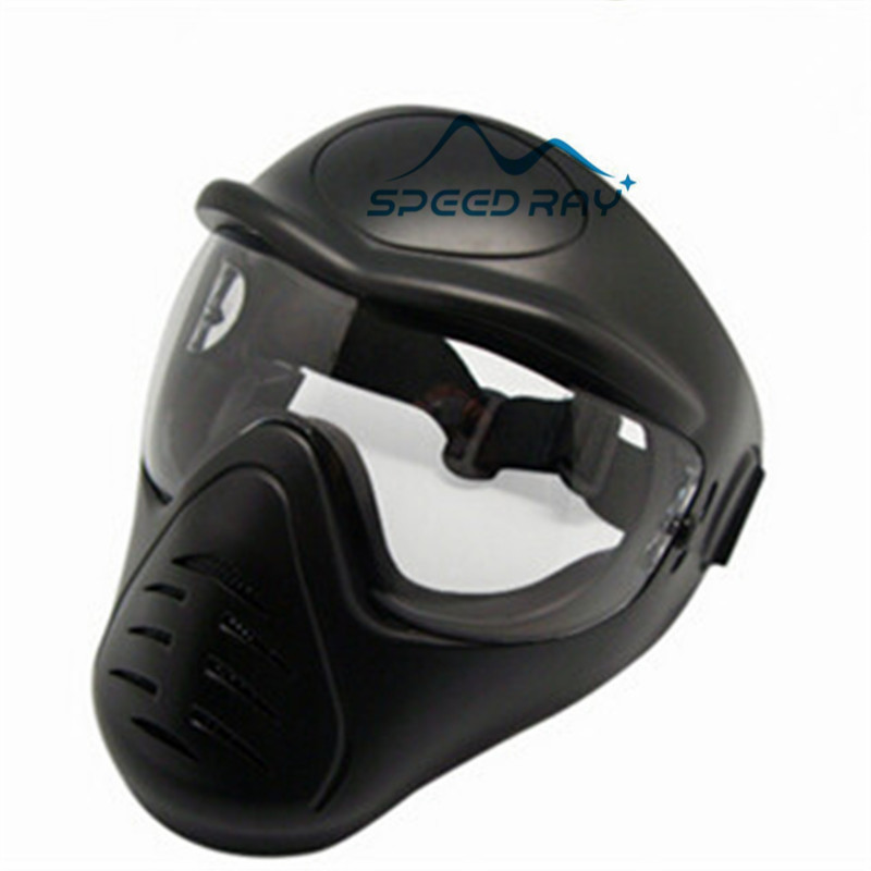 Military Tactical Army Anti Fog Full Face Air-soft Paintball Mask anti BB bullet tactical military new soft pe anti fog dual lens dual belts paintball mask comfortable full face protective for cs war games