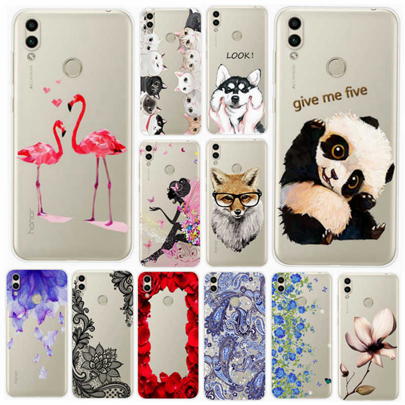 "For Huawei Honor 8c BKK-L21 TPU Case Honor8c Clear Silicone Back Cover For Huawei Honor 8 c BKK-LX2 BKK-LX1 6.26"" Phone Cases"