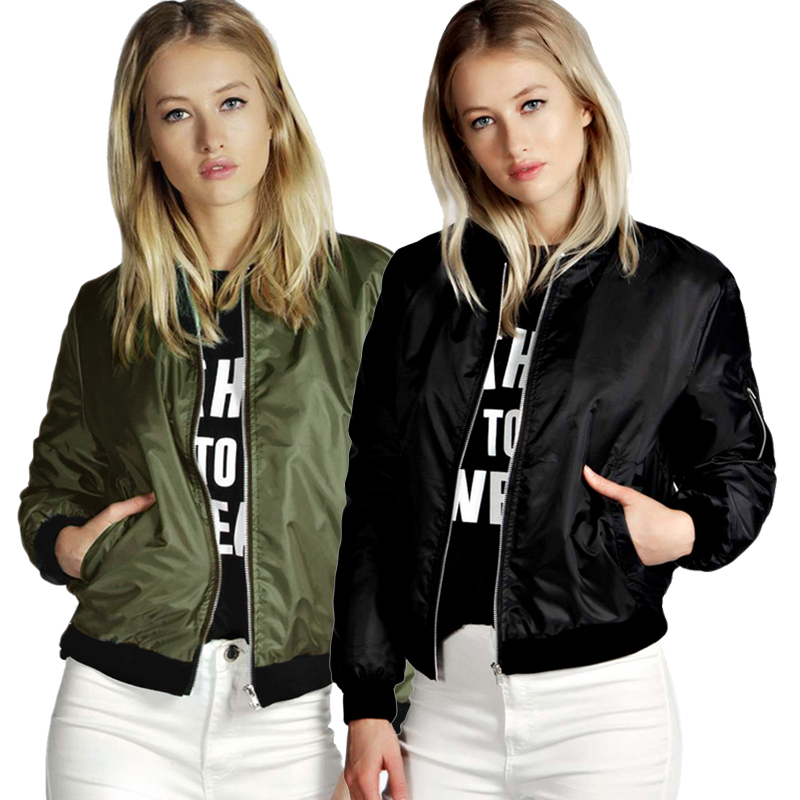 Spring Autumn Womens Casual Vintage Zipper   Basic     Jacket   Biker Baseball Coat Short Waterproof Outwear