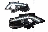 Car Styling For Fit Ford Mondeo Fusion 2013 2015 White LED DRL Driving Daytime Running Day