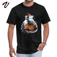 Design Illuminati Sleeve Tees VALENTINE DAY Crew Neck Gravity Falls Men T Shirts Tiger Plant Terrarium Hot Sale