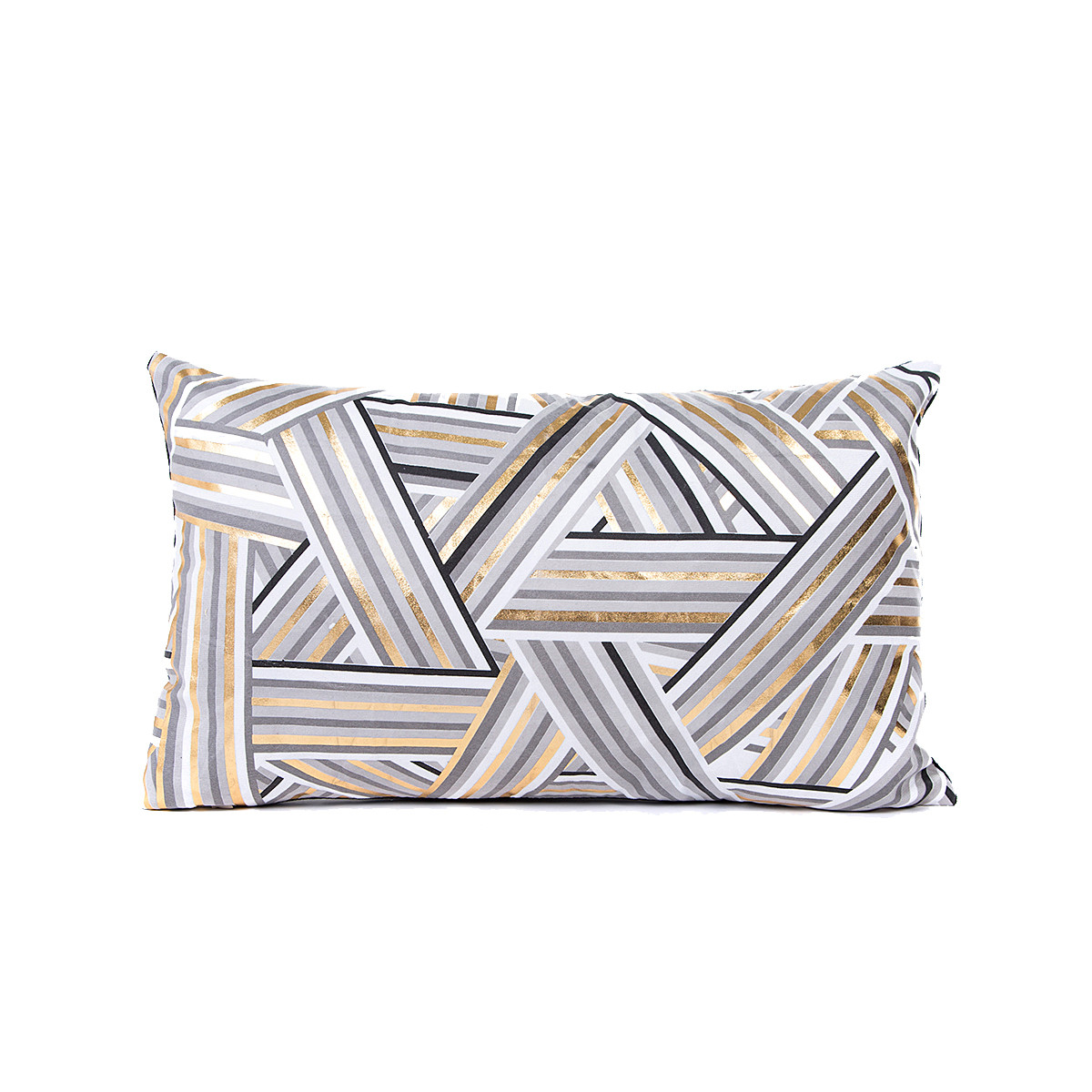 New Year decoration Gold Foil Printing Pillow Case Sofa Waist Throw Cushion Cover Home Decor Christmas Decorations For Home