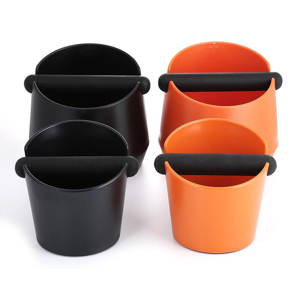 Realand ABS Schock-saugfähigen Espresso Klopfen Box Anti slip Kaffee Schleifen Dump Bin Abfall Bin mit Abnehmbare Klopfen Bar für Barista
