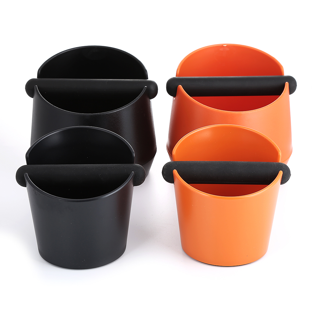 Realand ABS Shock-absorbent Espresso Knock Box Anti Slip Coffee Grind Dump Bin Waste Bin With Detachable Knock Bar For Barista