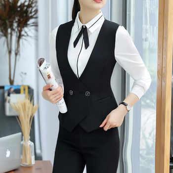 Business interview Vest skirt suits set women 2018 fashion new formal slim vest and skirt office ladies plus size work uniforms