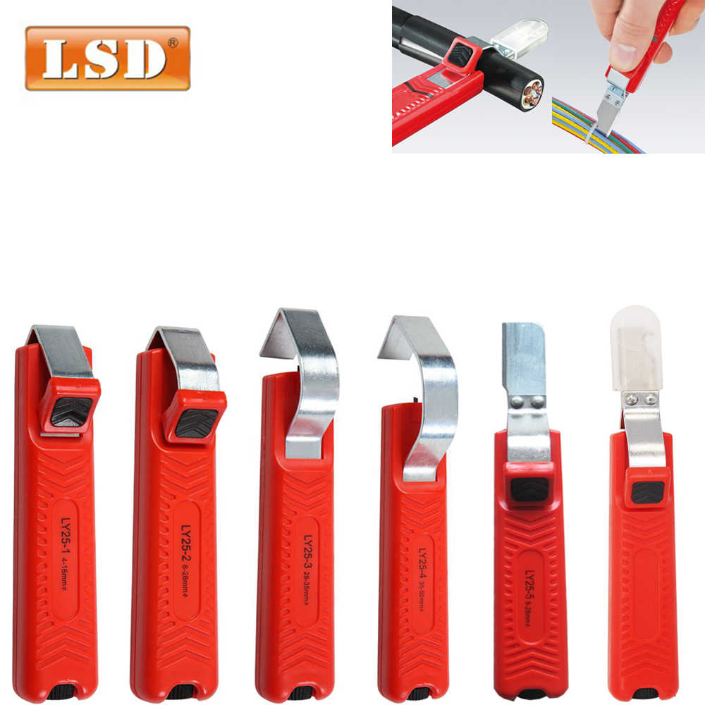 cable stripping knife PVC/silicone/rubber/PTFE diameter 4-50mm Cable knife wire stripper  Mini Electrician Knife Wire Stripper