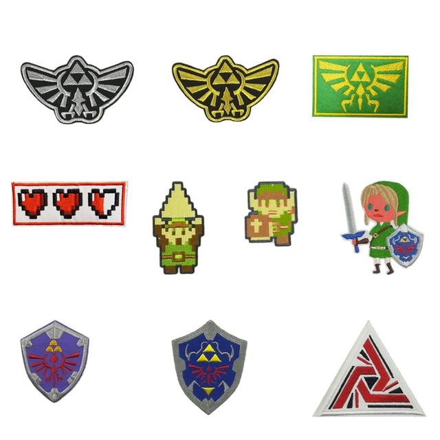 5e0bc8f1d881d Legend of Zelda Hyrule s Royal Crest Uniform Hylian Shield Tile Screen 8  Bit Patches ALIENS USCSS