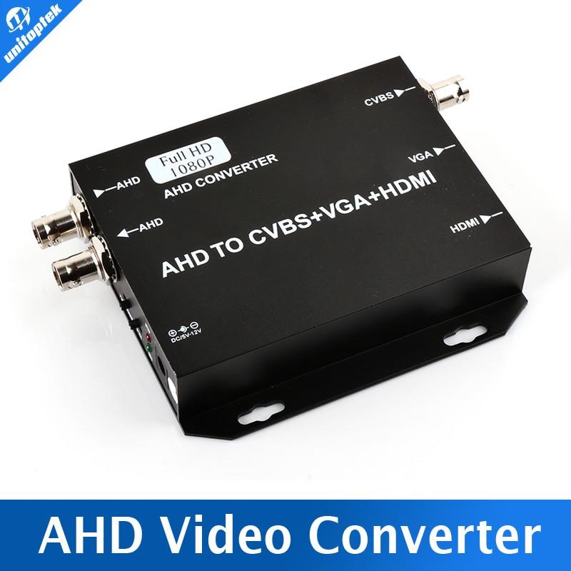 bilder für 2016 Original Neue HD AHD Video Converter AHD Signal zu HDMI/VGA/BNC Mit 720 P/1080 P 25/30Hz US/EU/UK/AU Stecker Schwarz