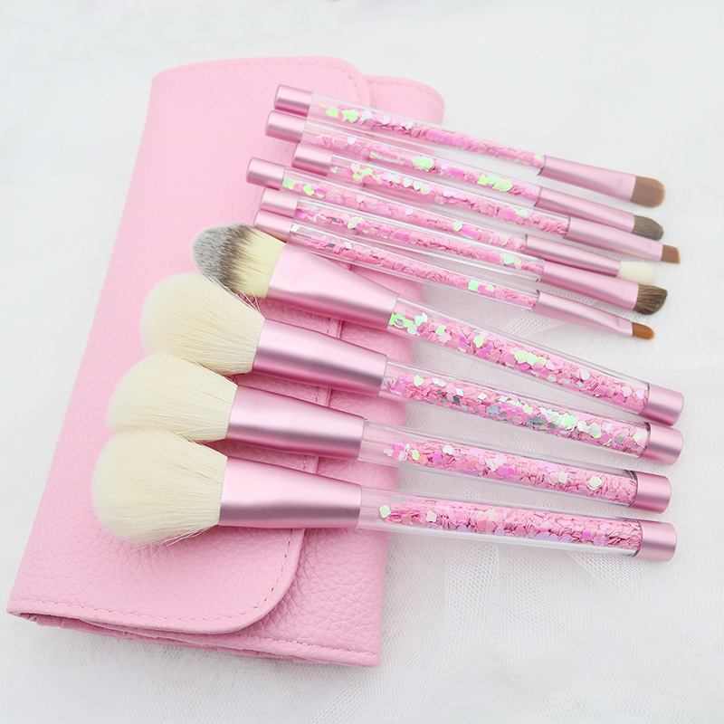 10pcs Diamond Brushes Set Crystal Handle Foundation Blending Powder Eyeshadow Makeup Brushes Set Cosmetic Bag Beauty maquiagem