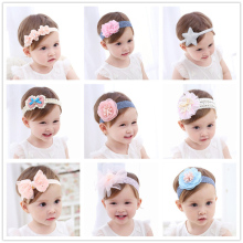Fashion Children's Cute Hair Accessories Baby Hair Band Lace Pentagram Flowers Girl Headgear