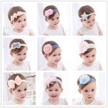 Fashion Newborn Toddler Headband Childrens Cute Hair Accessories Baby Band Lace Pentagram Flowers Girl Elastic bands Headwear