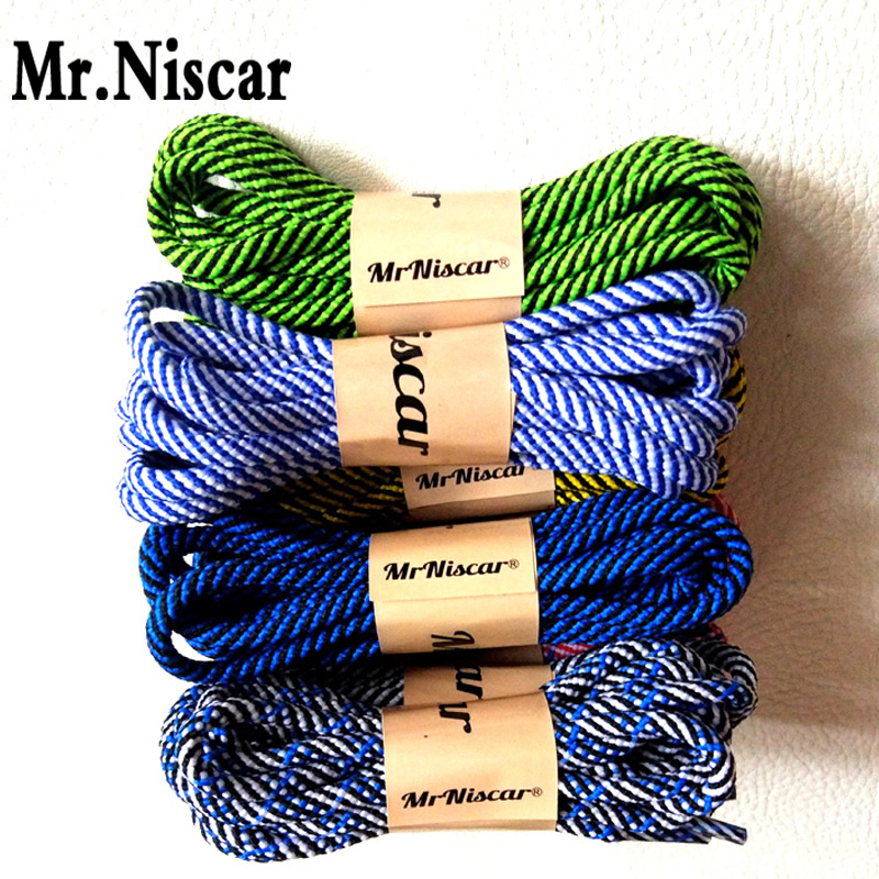 Mr.Niscar 10 Pair Brand Shoelaces Shoestring Round Hiking Walking Camping Colour Striped Shoe Laces String Skate Boots Bootlaces mr niscar 2 pair brand shoelaces shoestring round hiking walking camping colour striped shoe laces string skate boots bootlaces