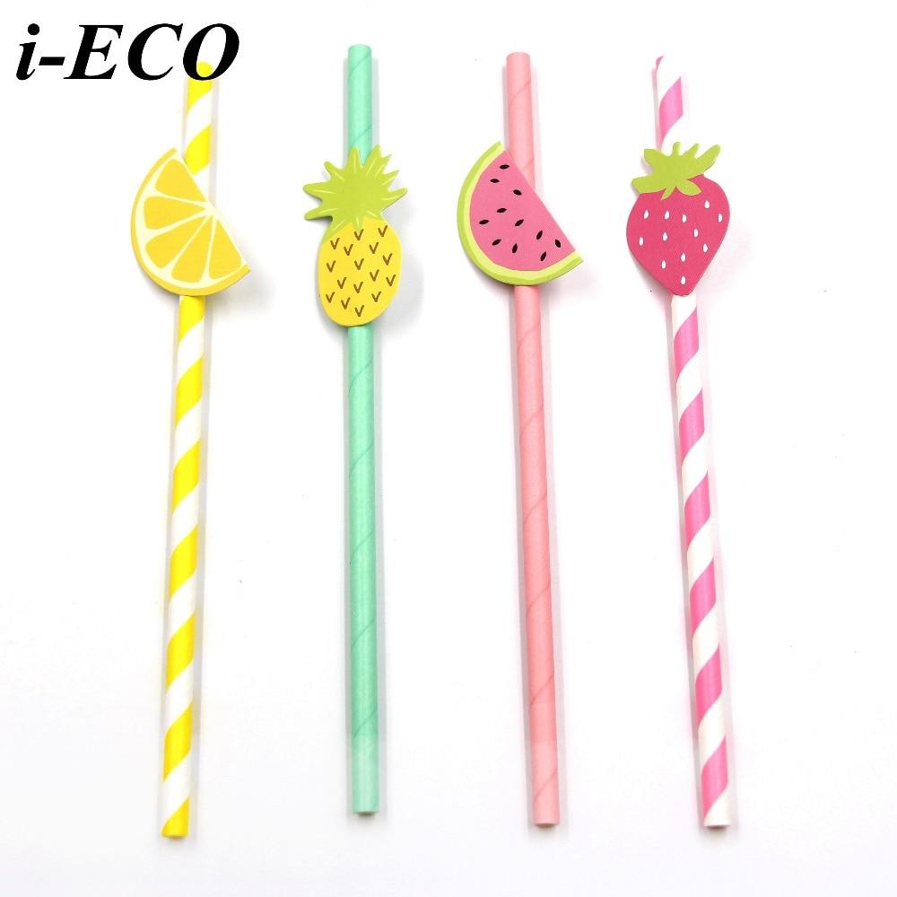Aliexpress.com : Buy 10PCS DIY Paper Straws Fruit Drinking Straws ...