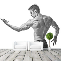 Fitness Man Photo Wallpaper Muscle Boy Bedroom 3D Mural Designer Wallpaper Art Home Decor Living Room