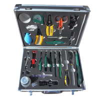 25 in 1 High Quality Fiber Optic FTTH Tool Kit with Piler ,Fiber Optic Stripper ,Cable stripper ,Screwdrivers